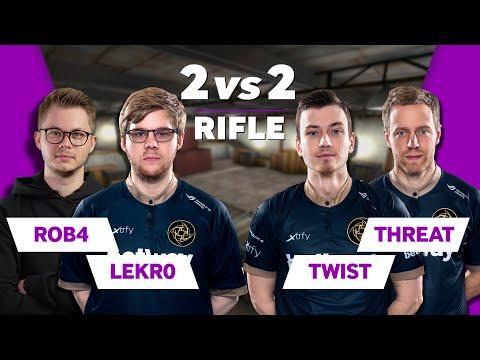 NiP CS:GO 2vs2 Rifle | Ft Twist, THREAT, Lekr0 And Rob4