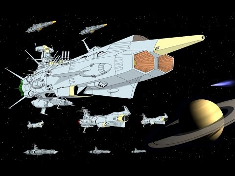 Space Battleship Andromeda Battle of Saturn