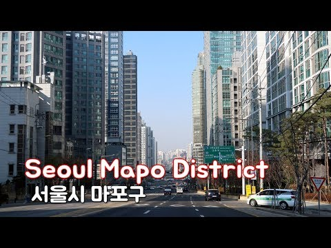 Driving in Seoul - Mapo District (마포구) | Business District in western Seoul
