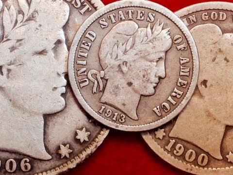 Value & Rarity Of Barber Dime, Quarter & Half Dollar