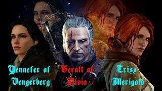 ► Yennefer Of Vengerberg  Geralt Of Rivia  Triss Merigold ϟ The Witcher   ☣ Fear On Fire ☣