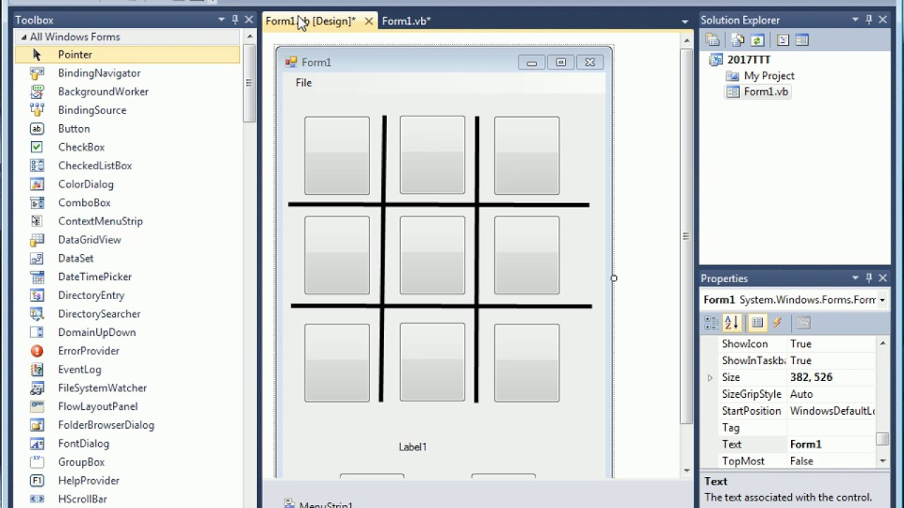 Visual Basic 02 Tic Tac Toe
