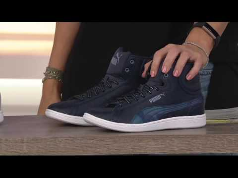 PUMA Leather Hightop Sneakers - Vikky
