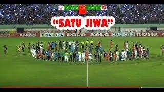 SATU JIWA berkumandang usai laga PERSIS Solo vs Timnas U19