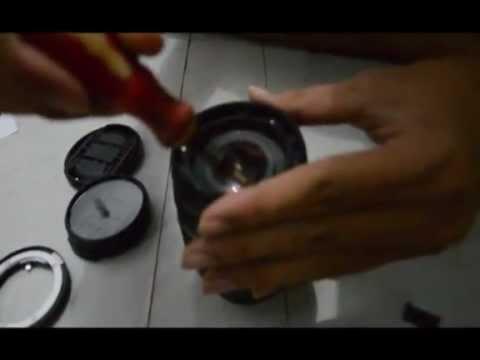 bersihkan jamur pada lensa