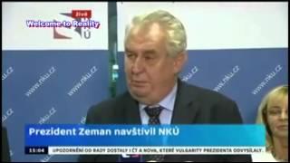 Zeman setřel redaktorku ČT v přimém přenosu