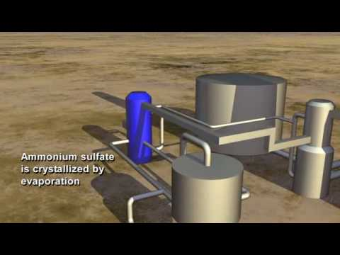 Flue Gas Desulfurization process at Great Plains Synfuels Plant