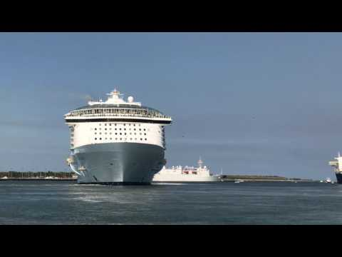 Oasis Of The Seas Leaving Port Canaveral May 28th, 2017