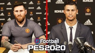 SIGNING MESSI AND RONALDO IN PES 2020!!!