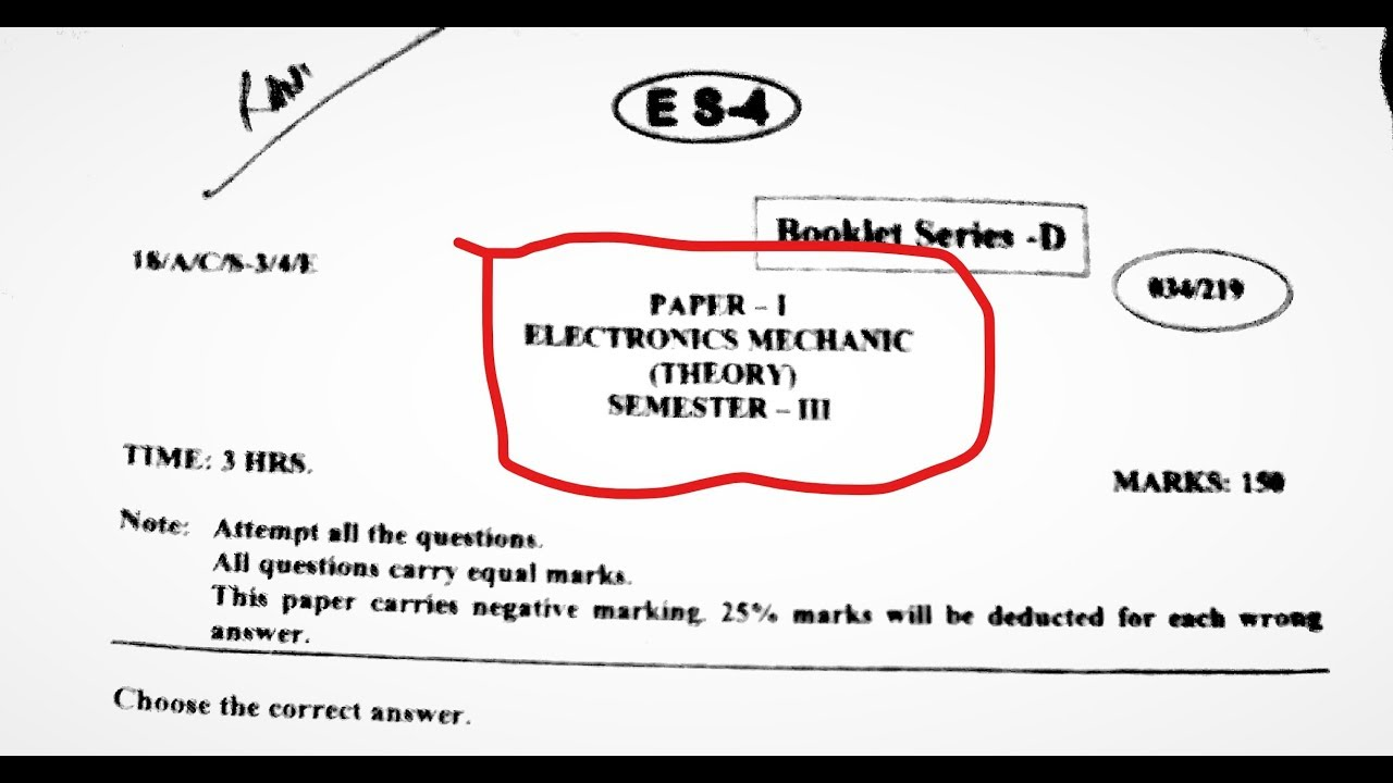 Electronics Questions And Answers Pdf
