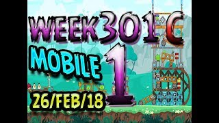 Angry Birds Friends Tournament Level 1 Week 301-C  MOBILE Highscore POWER-UP walkthrough
