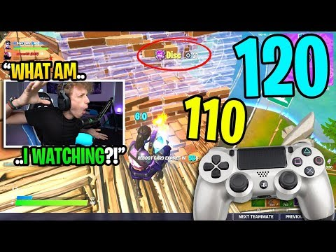 This CONTROLLER player got his HIGHEST KILL RECORD in my Fortnite game... (amazing)