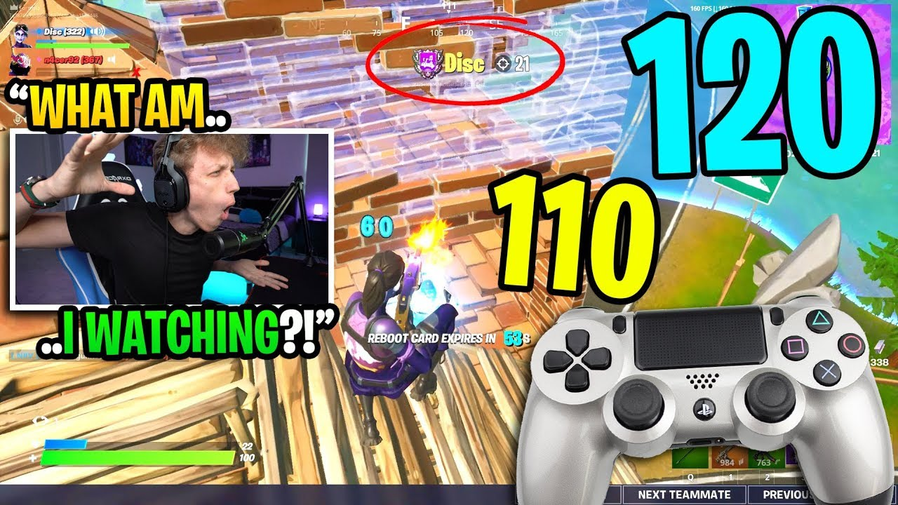 This CONTROLLER player got his HIGHEST KILL RECORD in my Fortnite game... (amazing) thumbnail
