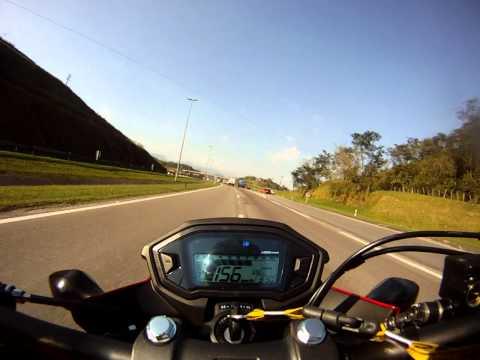 CB 500 F - Velocidade final 183km (moto amaciando) - DiduSrad