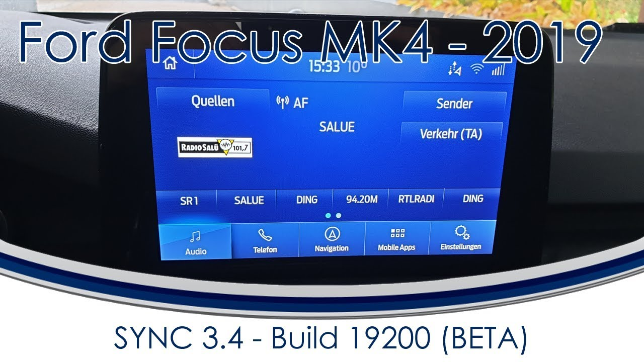Ford Focus 2018 2019 Mk4 49 Sync 3 4 Beta Youtube