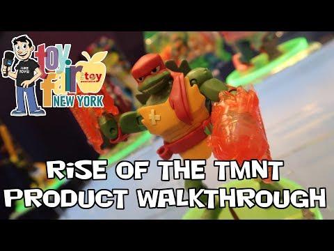 Rise of the Teenage Mutant Ninja Turtles Figure Product Walkthrough at Toy Fair 2018