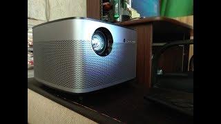 Проектор XGIMI H2 показ днем, ночью, при освещении и 3D видео.
