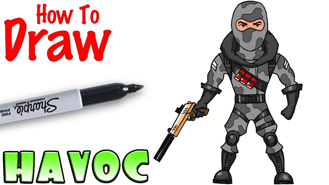 How to Draw Havoc Fortnite YouTube