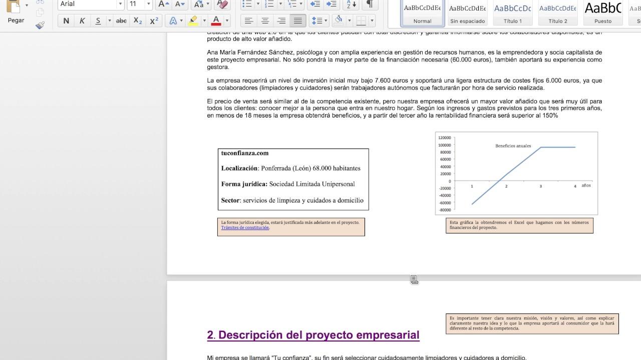 Ejemplo práctico Plan de Empresa 1 - YouTube 3d7d9782eb234