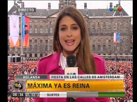Alegría en Holanda por la asunción de Máxima - Telefe Noticias