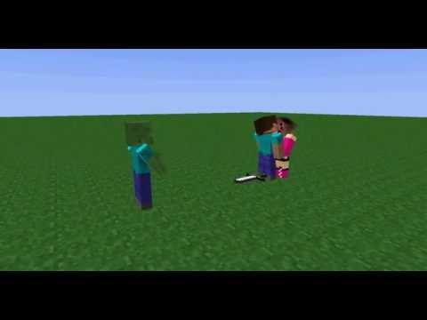 Minecraft movie/майнкафт мульт (поцелуй)