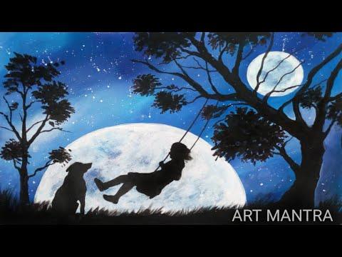 Heaven's garden landscape painting | fantasy landscape/scenery painting | acrylic painting