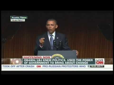 President Obama Civil Rights Summit Speech LBJ Library Austin Texas (April 10, 2014) [2/3]