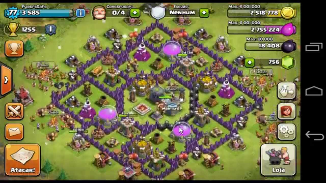 clash of clans layout de guerra cv 8 anti dragon youtube