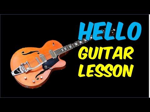 Guitar Lesson - Hello (Lionel Richie)