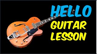 Guitar Lesson - Hello (Lionel Richie)
