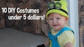 10 DIY Costumes under 5 Dollars for Toddlers! Kids! Last Minute! Thumbnail