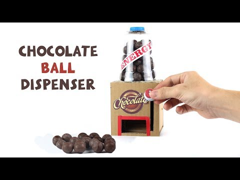 Thumbnail: How to make Chocolate Ball Dispenser for Kids - Just5mins