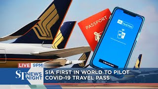 Singapore Airlines first in world to pilot Covid-19 travel pass | ST NEWS NIGHT