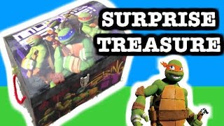 Teenage Mutant Ninja Turtles Surprise Treasure Chest With Surprise Toys, Pez Surprise Candy