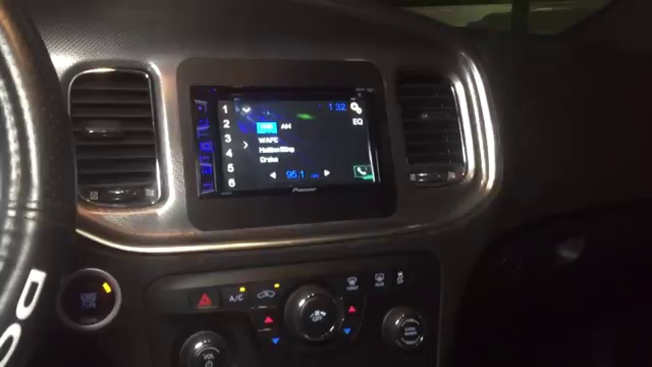 hight resolution of dodge charger custom double din up top radio install