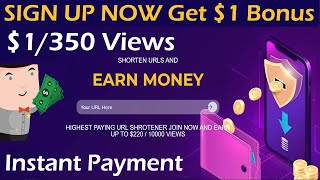 Earn $1 Daily   Best Link Shortner $1 for 300 Views   Make Money Online   Earn $1 Instant Sign up