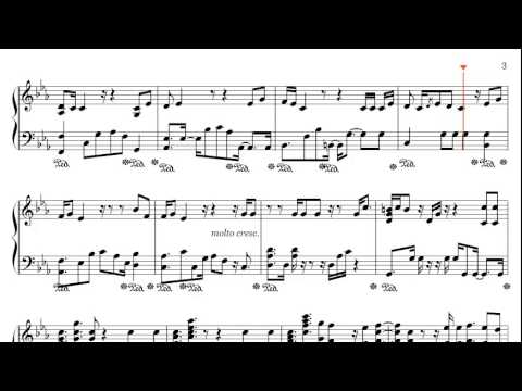 Skyfall - Adele Piano Sheet Music (arr. C. Miltenberger)
