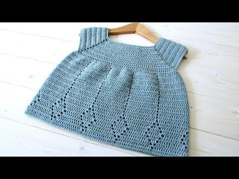 How to crochet a little girl's diamond dress - the Winnie dress