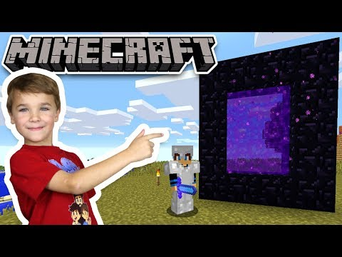 BUILDING A NETHER PORTAL in MINECRAFT SURVIVAL MODE