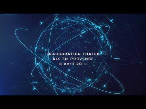 Inauguration du site de Thales à Aix-en-Provence