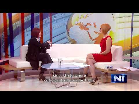 Danica Vucenic o akciji Za slobodu medija (For Freedom of the Media)