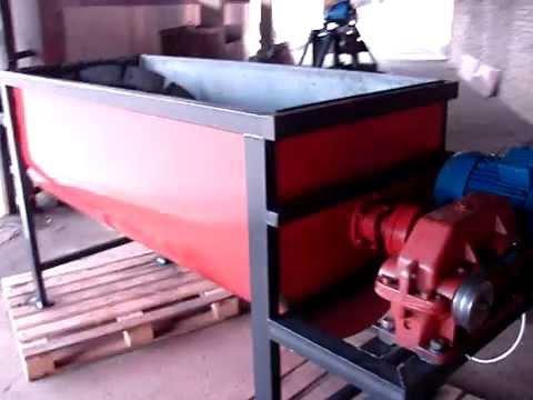 Видео-осмотр шнековой бетономешалки горизонтальной
