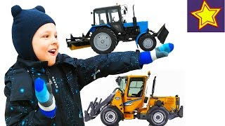 Спецтехника в работе. Тракторы. Видео для детей Kids video about tractor(Привет, ребята! В этой серии Игорюша снова встречает спецтехнику за работой. Сегодня это три трактора: два..., 2016-03-17T06:19:57.000Z)