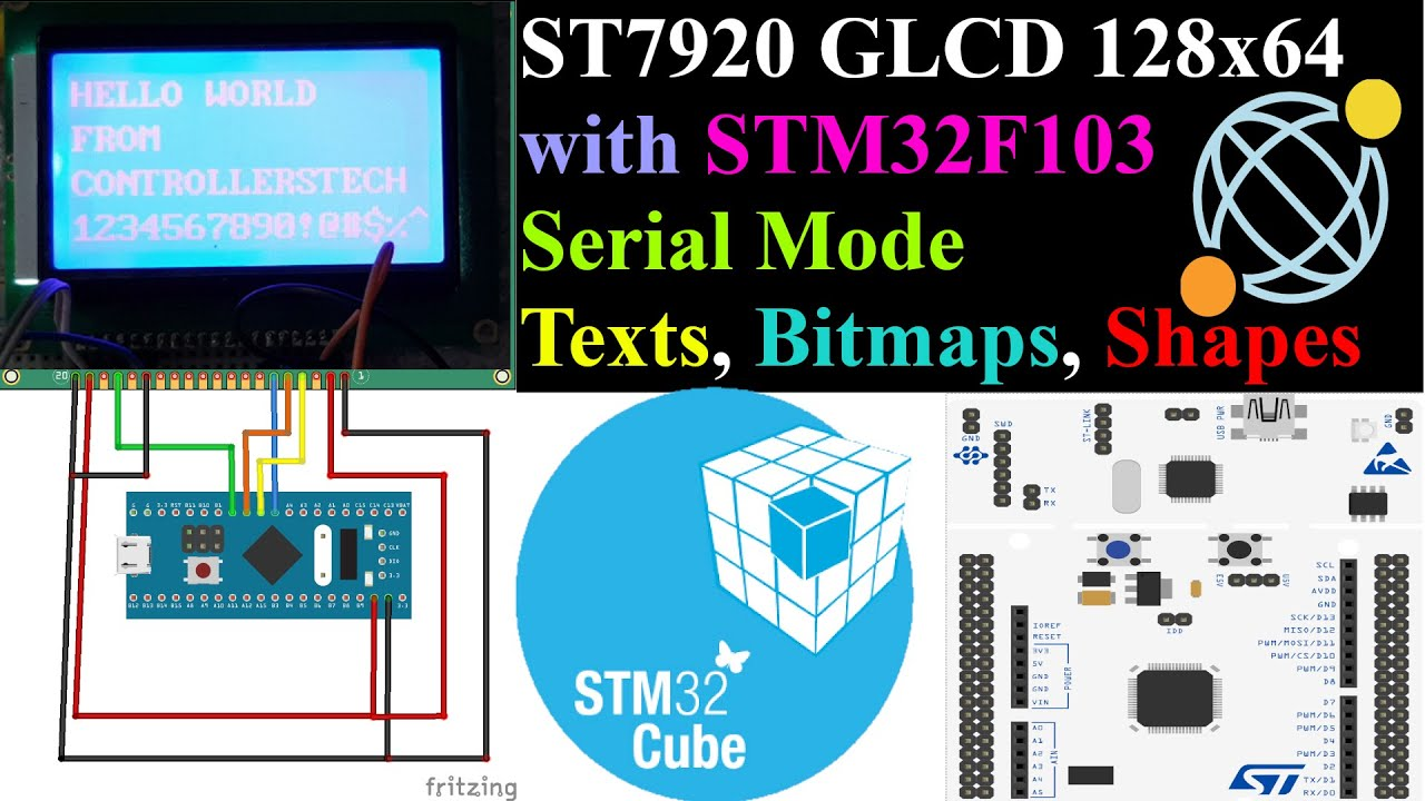 Interface ST7920 GLCD with STM32 || Serial Mode || F103 || CubeMX || HAL