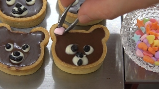 MiniFood chocolate tart 食べれるミニチュアクマのチョコタルト