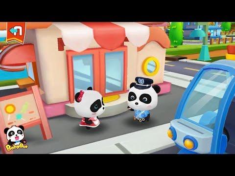 Baby Panda's Candy Shop was Stolen | Baby Panda Sheriff | Policeman Pretend Play | BabyBus