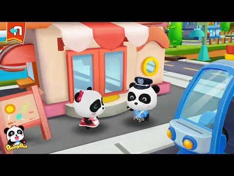 Baby Panda's Candy Shop was Stolen   Baby Panda Sheriff   Policeman Pretend Play   BabyBus