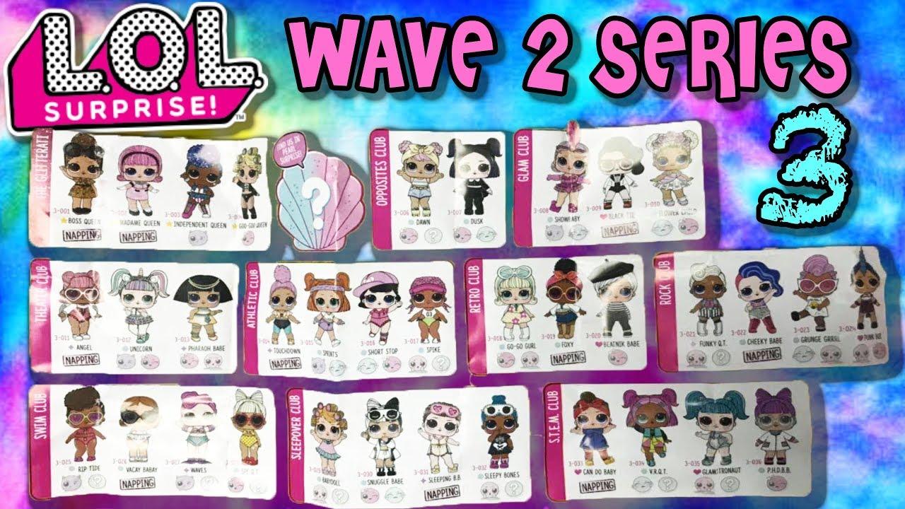 2 Lol Wave Checklist Series 2 Surprise