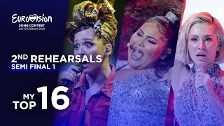 Eurovision 2021: Top 16 Second Rehearsals (Semi Final 1)