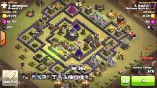 COC Clash Of Clans th 9 vs th 9 balon 100 persen
